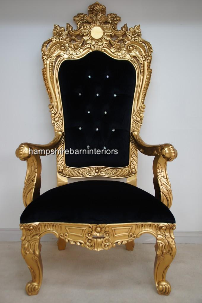Hampshire Barn Interiors : Large Gold Leaf Throne Chair from www.hampshirebarninteriors.co.uk size 681 x 1024 jpeg 69kB
