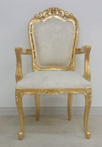 FRANCISCAN CHAIR IVORY CREAM GOLD