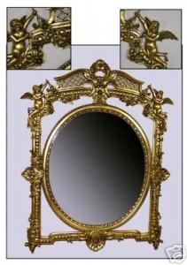 Ornate Gold Cherub Mirror