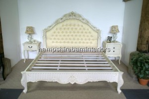 French Louis Style White Bed