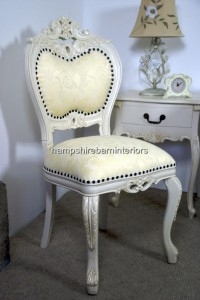 Antique White Louis Occasional Chair