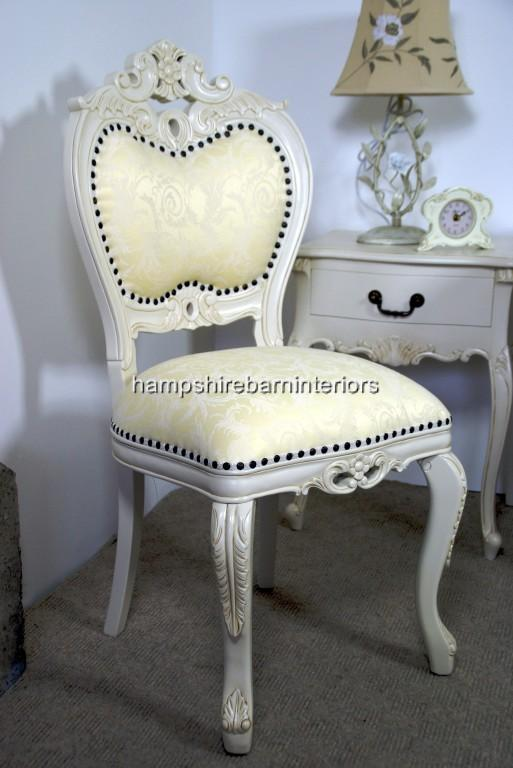 Antique White Louis Occasional Chair - Heart Chair In Antique White Hampshire Barn Interiors