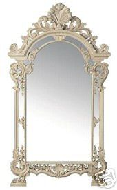 French Style Antique White Large Mirror