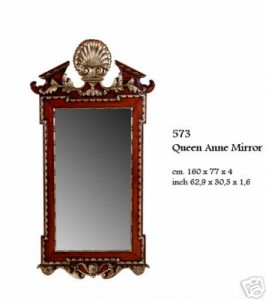 Antique Style Queen Anne Mirror