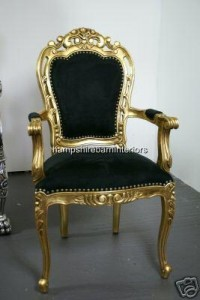 Black and Gold Occasional Chair