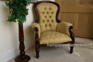 Antique Gold Grandfather Chair