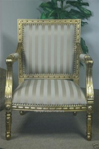 Ornate Gold Occasional Chair