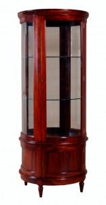 Edwardian Round Display Cabinet