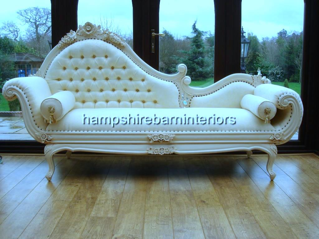Large chaise longue hampshire barn interiors part 4 for Chaise longue salon