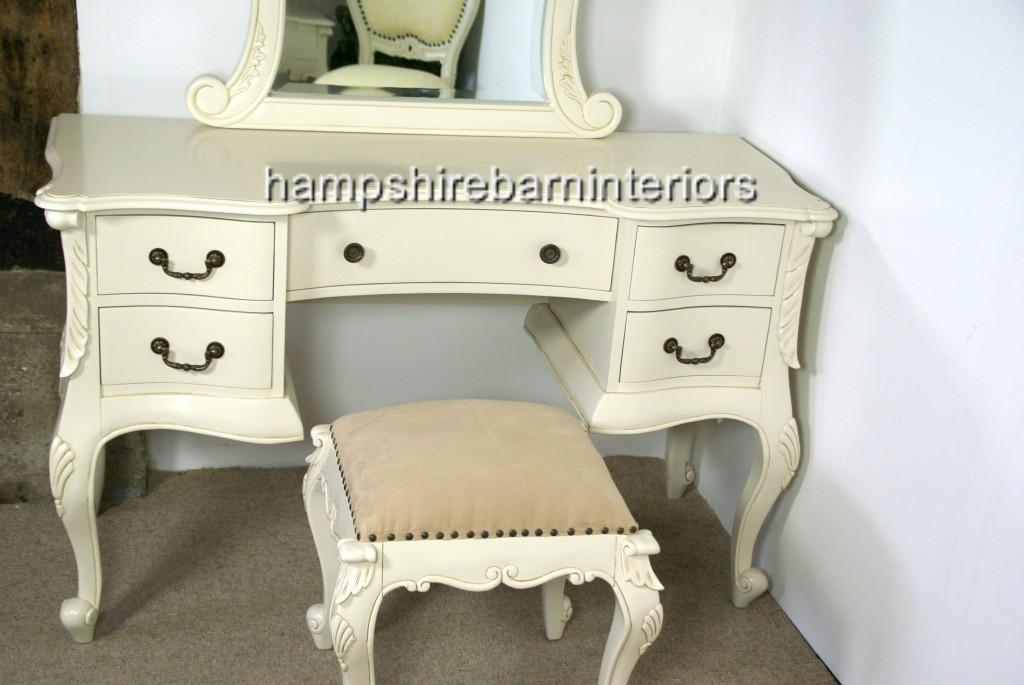 The Charles Dressing Table And Stool In Antique White Hampshire Barn Interiors