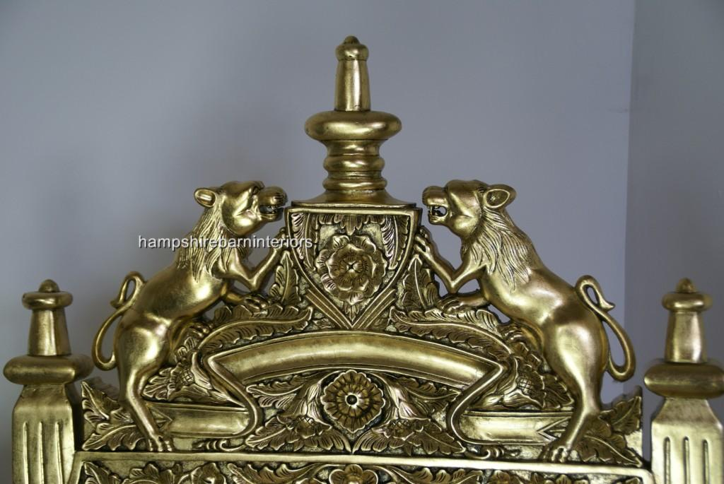 The Tudor Royal Throne Chair In Gold Leaf Antiqued Aged