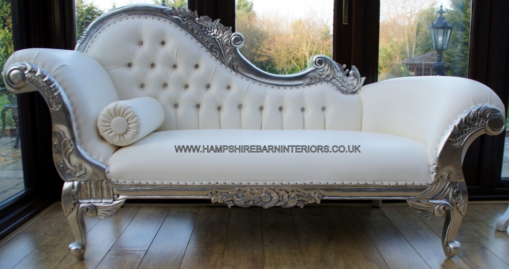 left-handed-silver-ornate-chaise-white-faux-leather-crystal-buttons