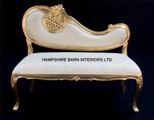 harp ornate chaise longue bench love seat