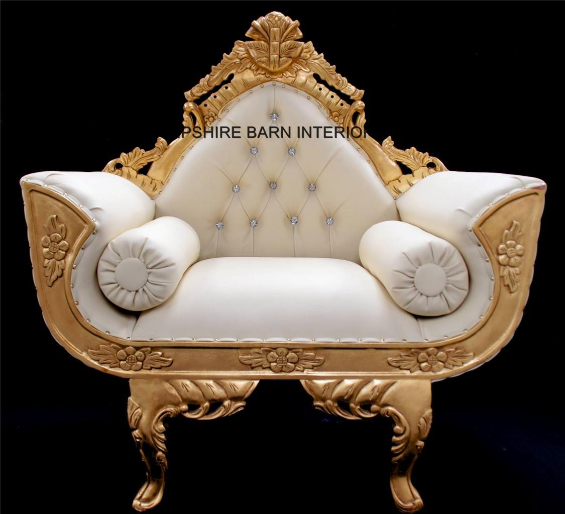 A Catherine Ornate Gold Royal Wedding 3 Piece Set Suite