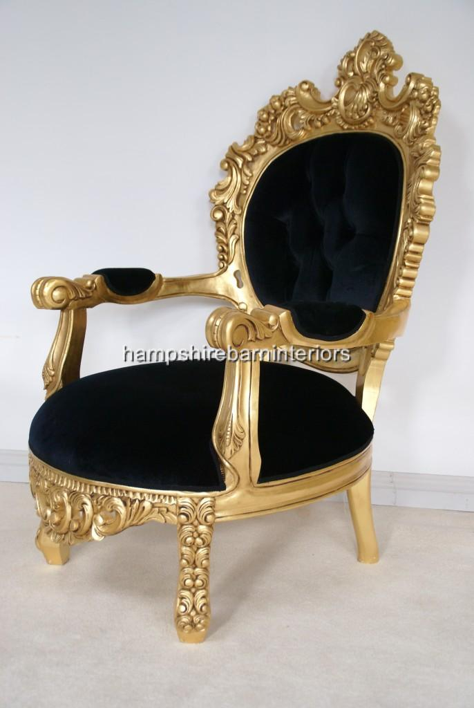Arabian Nights Throne Chair Gold And Black Or Gold And