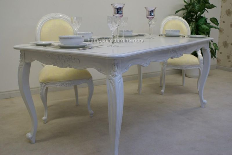 FRENCH CHIC WHITE ORNATE DINING TABLE SET WITH 6 CHAIRS  : B wIgjgBmkKGrHqRjgEzr EqM1BM9nQHyYqQ03 from www.hampshirebarninteriors.co.uk size 800 x 535 jpeg 36kB