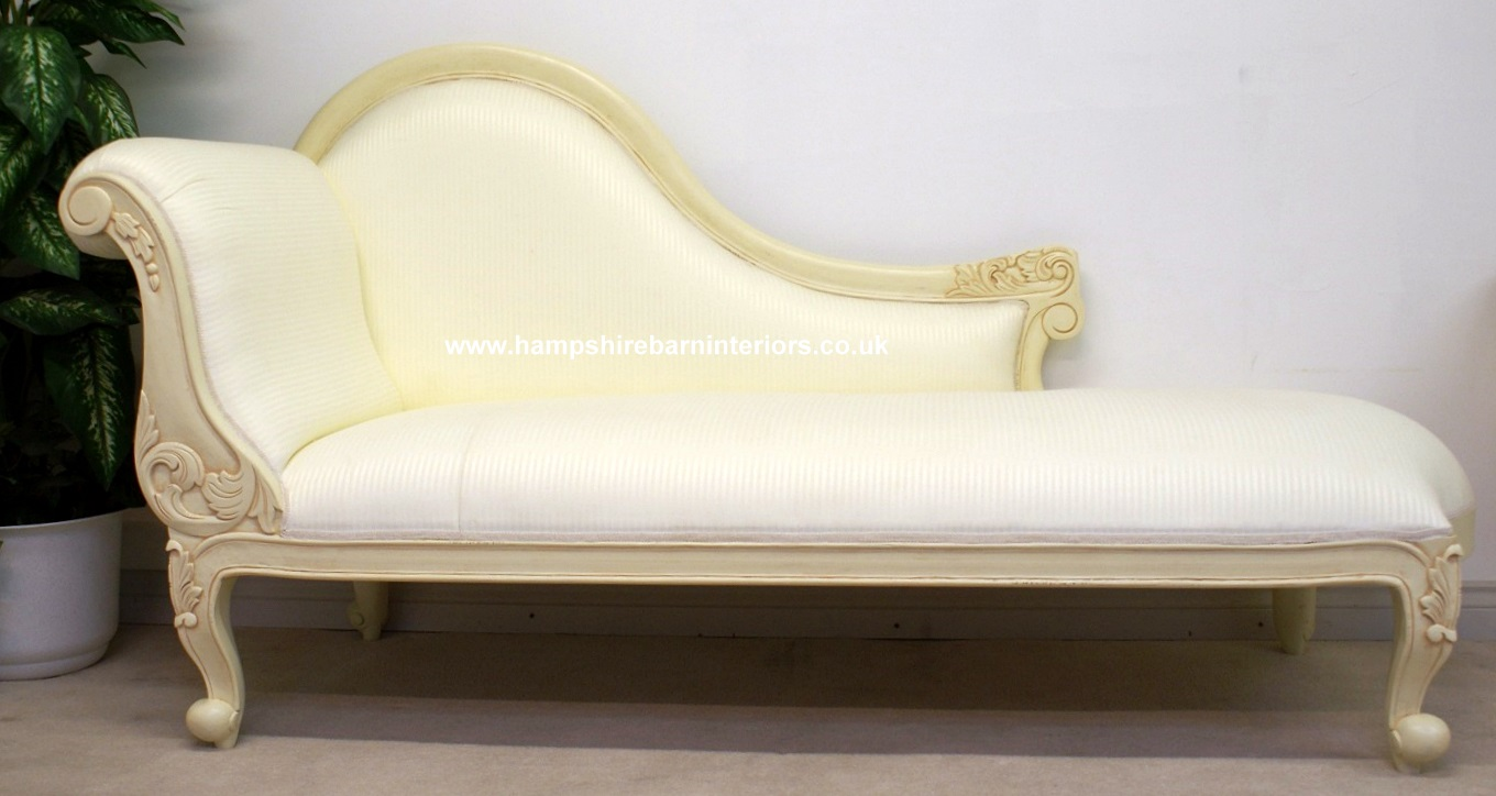 french gilded antique style recamier chaise xv century longue louis