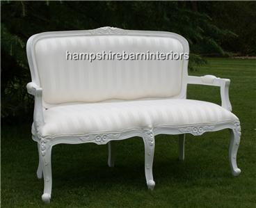 Awesome Josephine French Style Small Sofa Double Ended Chaise In Ibusinesslaw Wood Chair Design Ideas Ibusinesslaworg