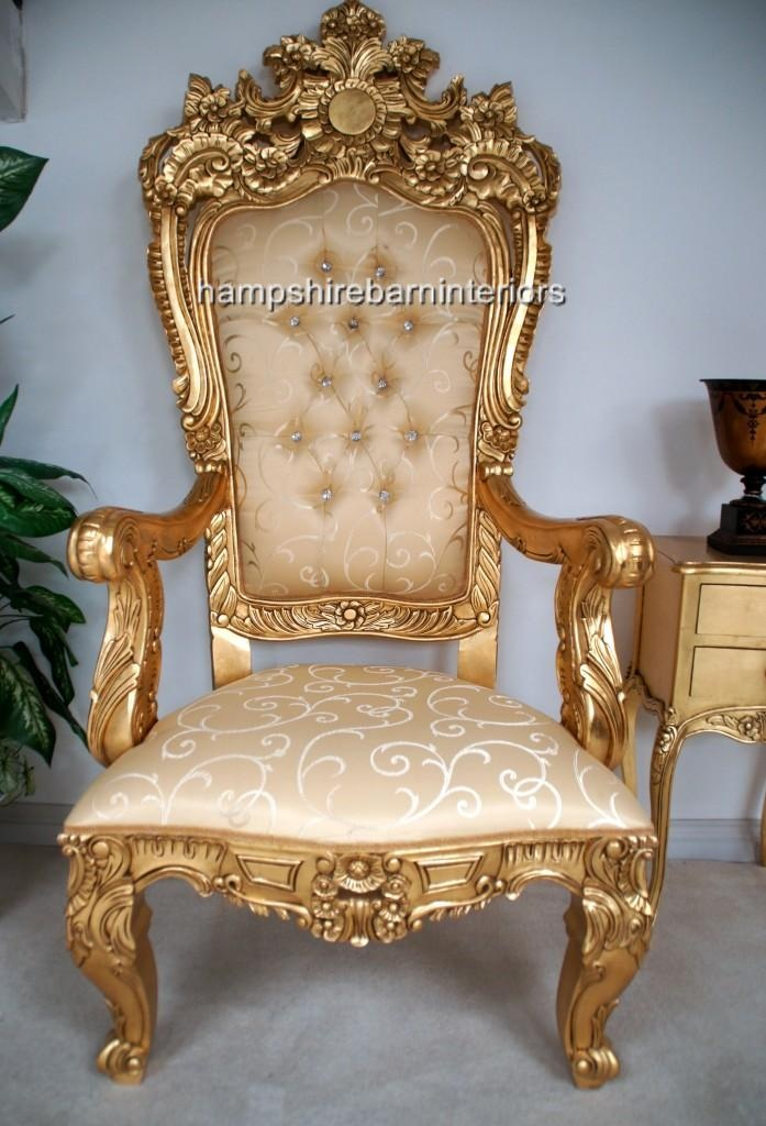 A Emperor Rose Large Ornate Throne Chair Hampshire Barn