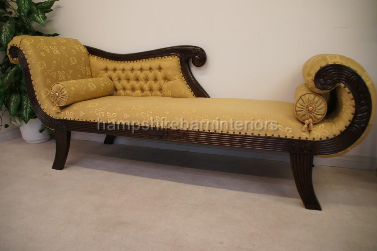 Ornate gold chaise longue knightsbridge large hampshire for Baroque chaise lounge sofa
