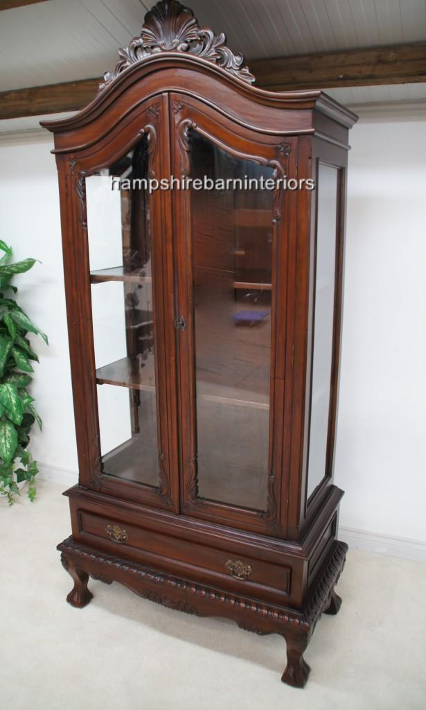 A Glazed Chippendale Style Mahogany Display Cabinet