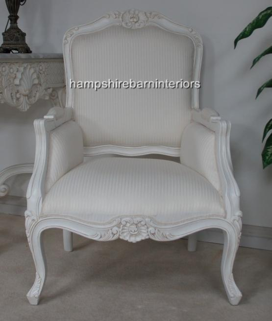 photo : shabby chic white chair images