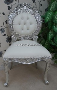Avalon ornate silver leaf wedding chair