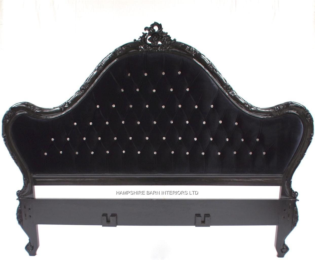 detail close pin velvet of up black headboard tufted with crystals
