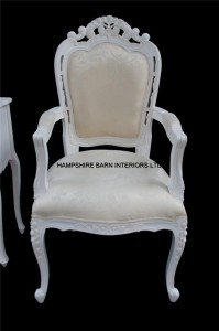 chateau antique white chair