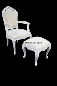 chateau french antique white chair2
