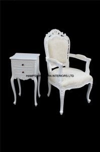 chateau french antique white chair3