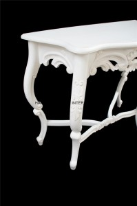 chateau white console table