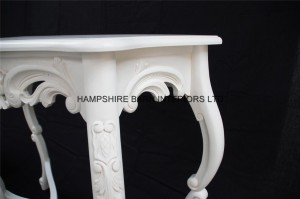 chateau white console table 4