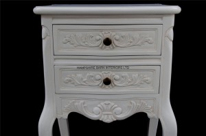 chateau white painted bedside