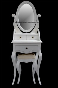 oval mirror small dressing table with stool