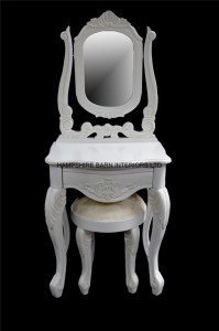 antique white chateau style french small dressing table