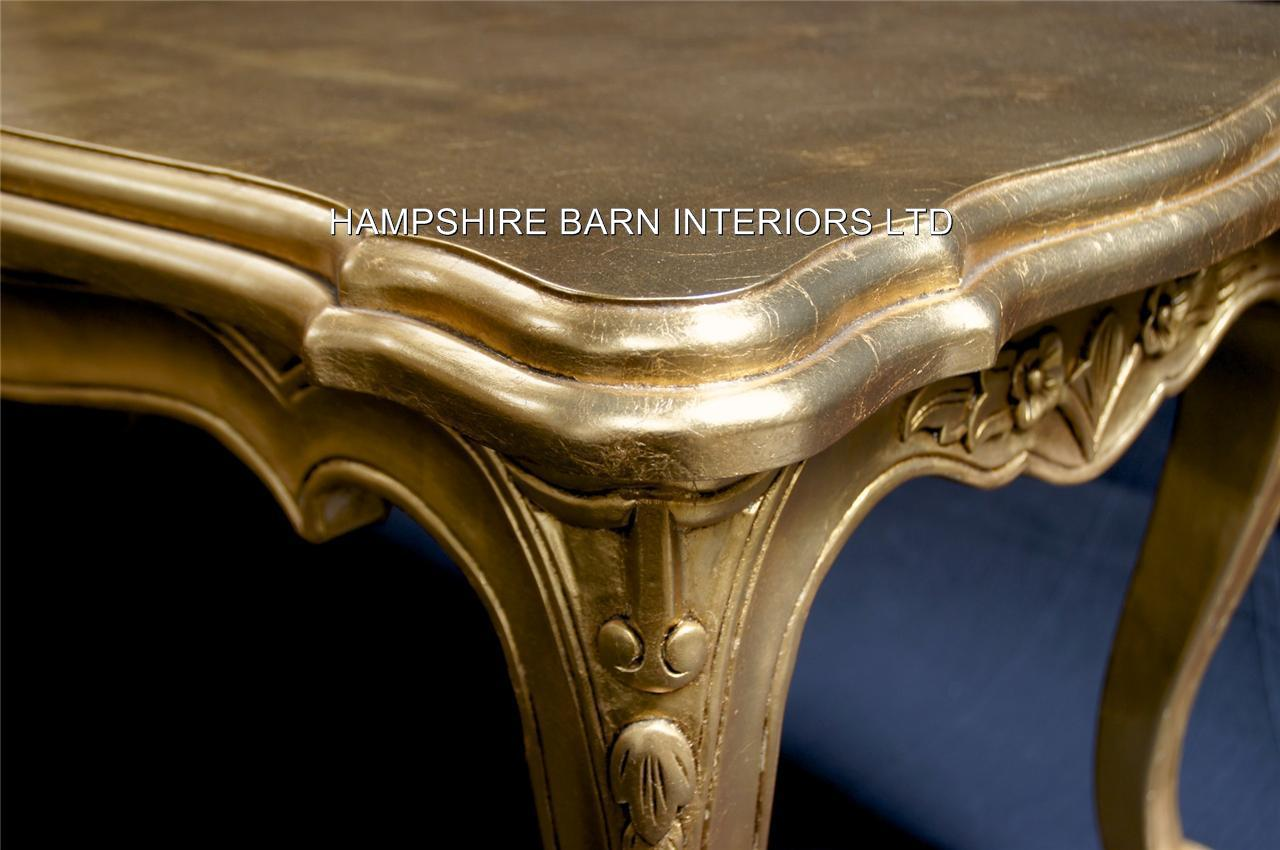 A Gold Leaf Ornate Chateau Style Side Lamp Table