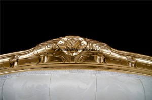 Double-Ended-Gold-Ivory-French-Louis-Ornate-Chaise-Longue-Sofa-Home-Salon