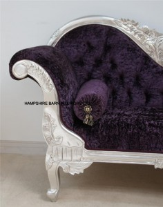 2 designer-silver-french-ornate-chaise-purple-crushed-velvet-furniture