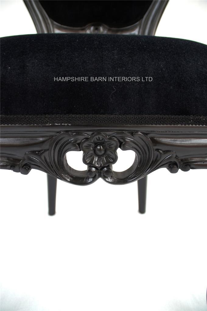 French Chateau Noir Style Ornate Chair Black Velvet .....Bedroom ...