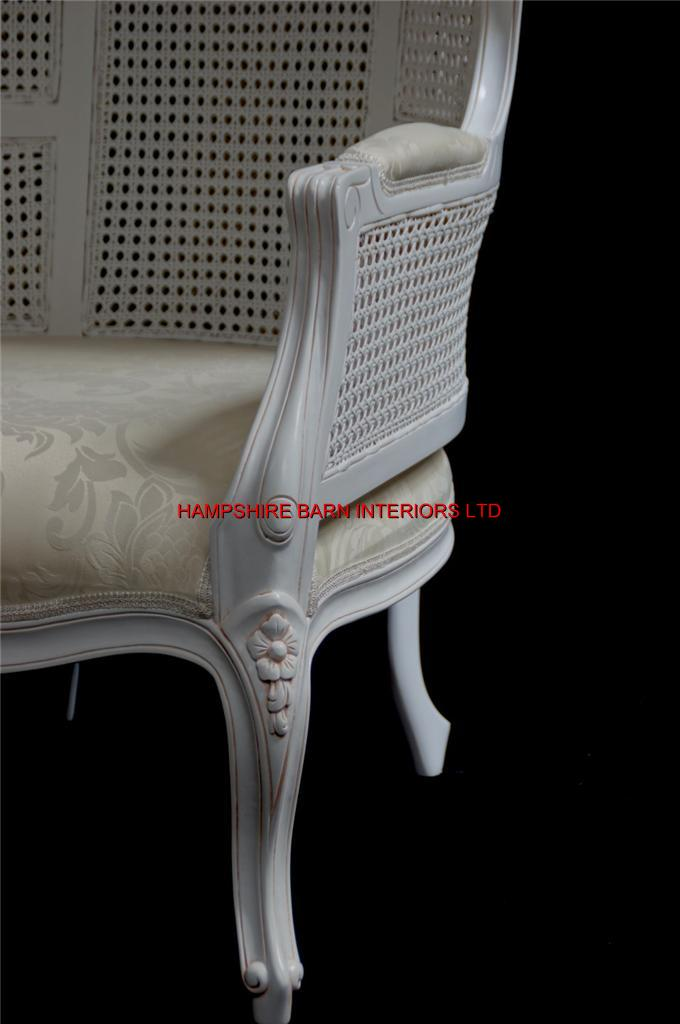 White Feature Tall Throne Arm Chair French Designer Hooded Canopy Hampshire Barn Interiors