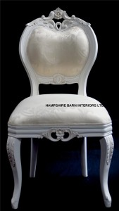 Chateau French Style Boudoir Ornate White Chair ..dining, desk, dressing table or occasional