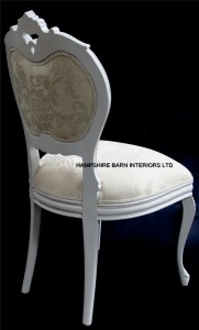 French chateau style antique white chair 4