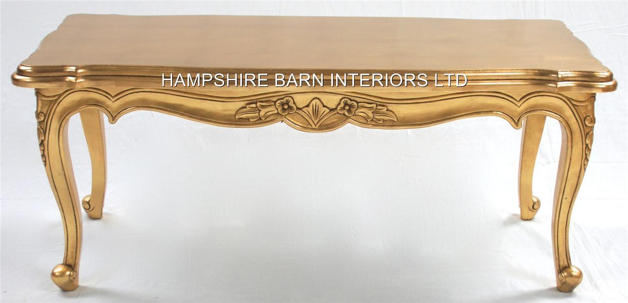 A Gold OR Silver Large Leaf Ornate Chateau Style Coffee  : gold coffee table from www.hampshirebarninteriors.co.uk size 1280 x 619 jpeg 68kB