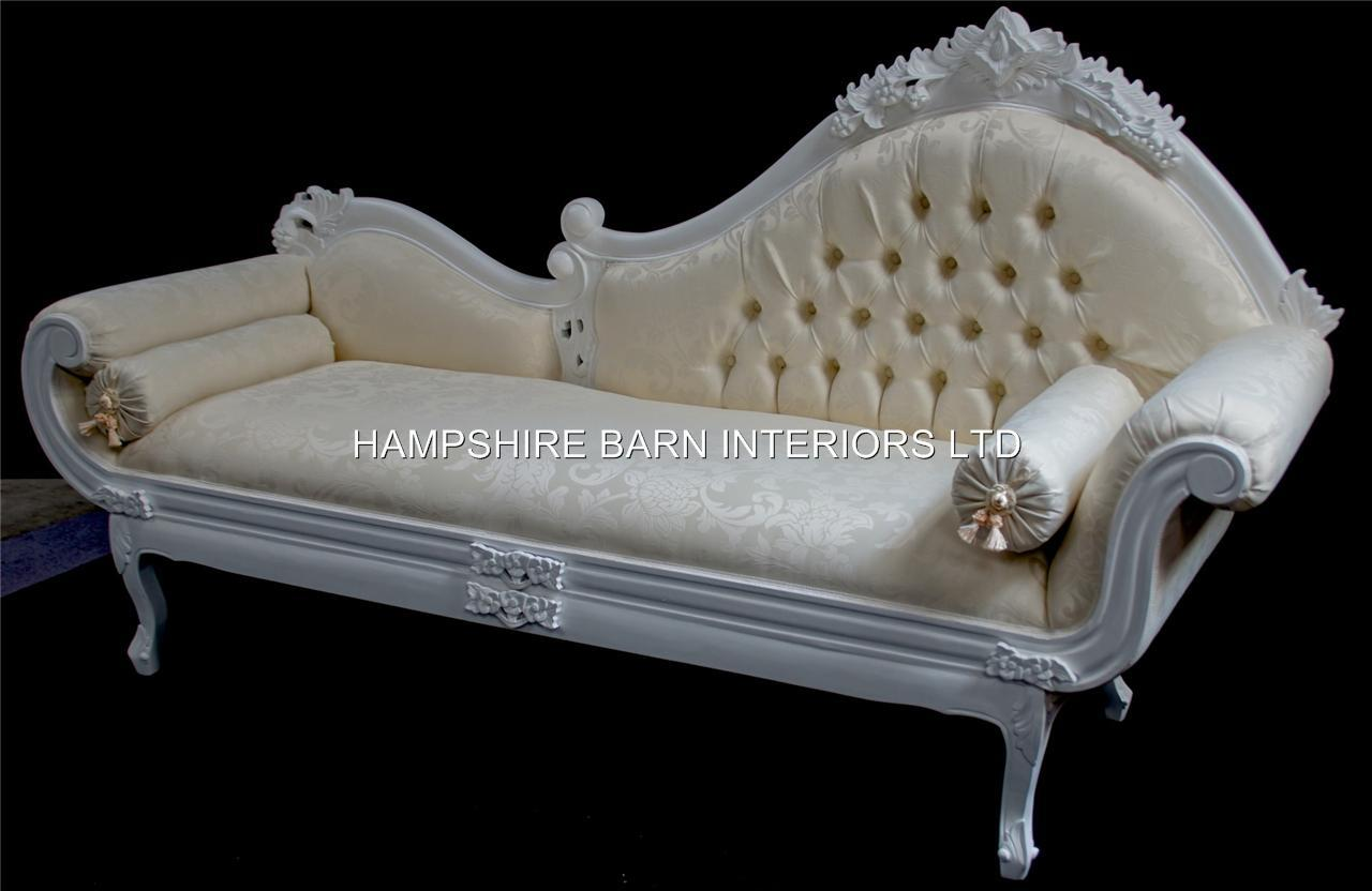 A french chateau style ornate amberley large chaise longue for Large chaise longue