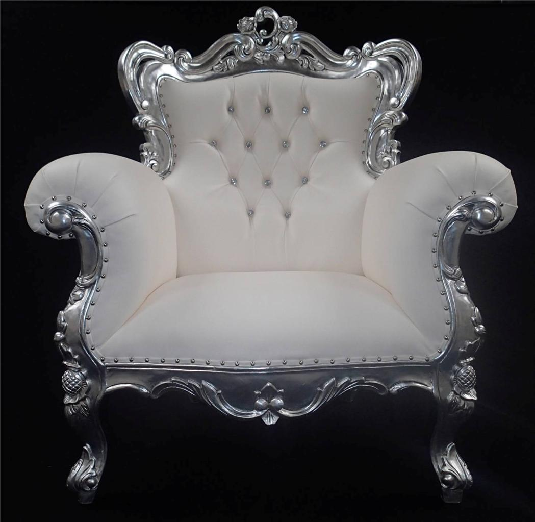 A A Antiqued Silver Leaf Louis Huge Arm Chair Shop Home