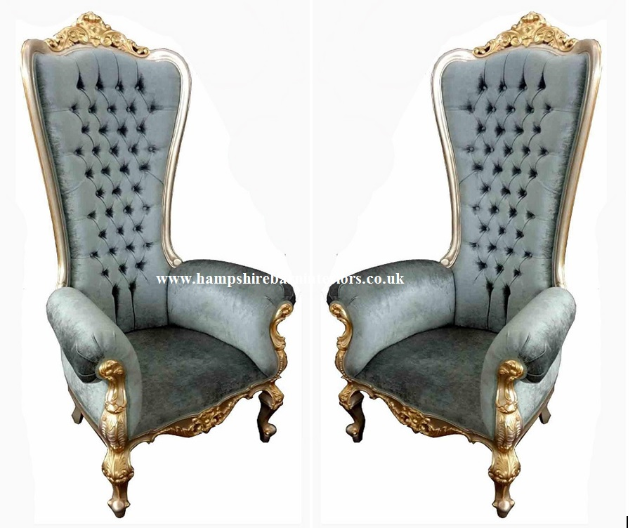 Ornate gold leaf three piece suite sofa 2 chairs hampshire barn dining