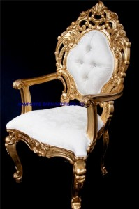 royal palace wedding set gold and ivory cream one sofa and two thrones all highly carved from mahogany.5