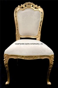 Franciscan chair gold ivory