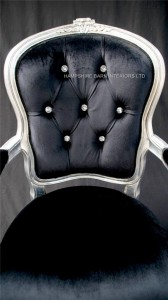 CHESHIRE SILVER AND BLACK VELVET ORNATE CHAIR WITH CRYSTALS2